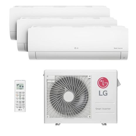 Imagem de Ar Condicionado Multi Tri Split Hw Inverter Lg 2x9000 1x12000 Btus Quente/frio 220V Monofasico A3UW24GFA2.AWGZBRZ