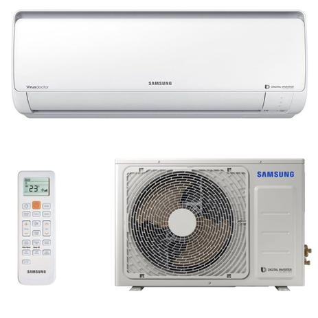 Imagem de Ar Condicionado Samsung Split Hw Digital Inverter 18000 BTUs Quente/Frio 8 Polos 220v AR18MSSPBGMXAZ