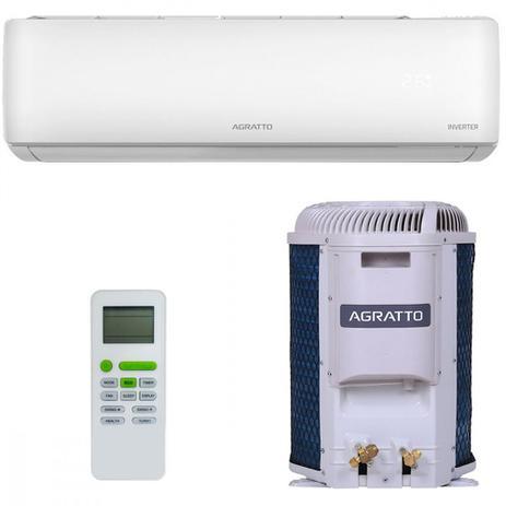 Imagem de Ar Condicionado Split Inverter Agratto Hi Wall Eco 9000 BTUs Quente Frio EICST9QFR402  220V