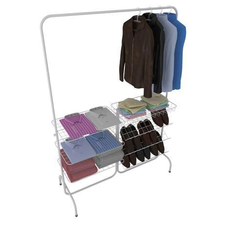 Imagem de Arara para roupas Closet Branca