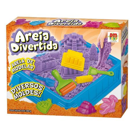 Imagem de Areia De Modelar Divertida Massinha 900G Com 6 Moldes E Acessorio Castelo brinquedo (DMT5121)