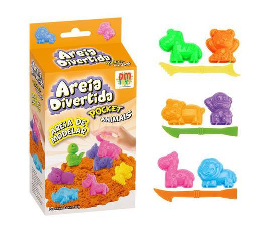 91328a1c47 Areia Magica De Modelar Massinha Divertida Bichinho Forminha (DMT5123) - Dm  toys