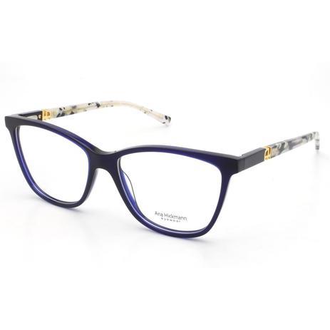 399cb90dda42a Armação Óculos de Grau Ana Hickmann Feminino AH6313 T03 - Óptica ...