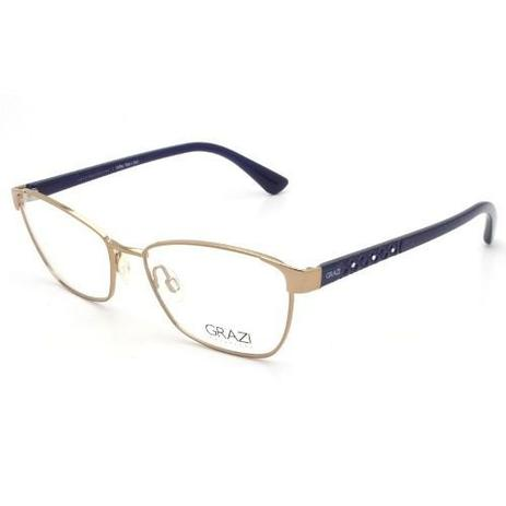 734a585e8 Armação Óculos De Grau Feminino Grazi Massafera Gz1010b E818 ...