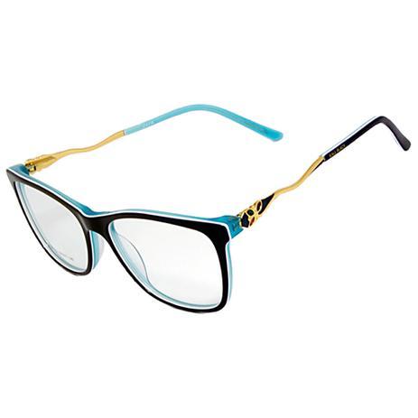 dc9cbdeba7f8f Armação Óculos de Grau Feminino Kallblack AF6238 - Armação   Óculos ...