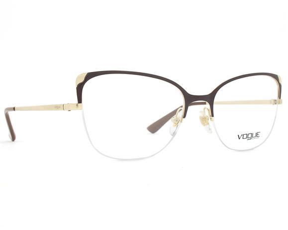 90d48c805 Armação Óculos de Grau Vogue Feminino Metallic Beat VO4077 997 ...