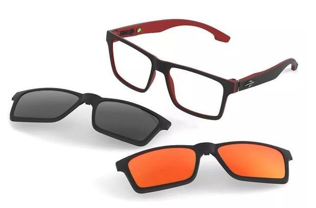 5b5a37311 Armação Oculos Grau Mormaii Swap M6057AA9 Clipon Polarizado ...