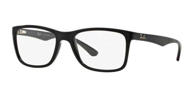 Armação oculos grau ray ban rb7027l 2000 lente 54mm preto brilho ... e9d7f2b15b