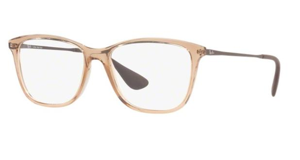 Armação oculos grau ray ban rb7135l 5700 lente 54mm marrom claro  translucido - - Óculos de f1b932bf02