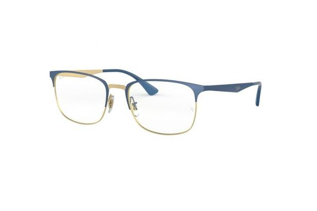 762b2af99 Armação Para Oculos De Grau Ray-ban Rb6421 3002 Azul - Óculos de ...