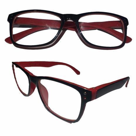 Armação para Oculos de Grau Unisex Vermelha Acetato - Oficina dos relógios ee650068a0