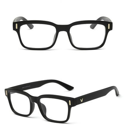 Imagem de Armação Unissex Retangular Vintage para Óculos de Grau