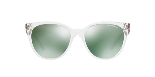 Armani Exchange AX4072SL 82356R Transparente Lente Espelhada Azul Petróleo  Verde Claro Tam 55 1f32584347