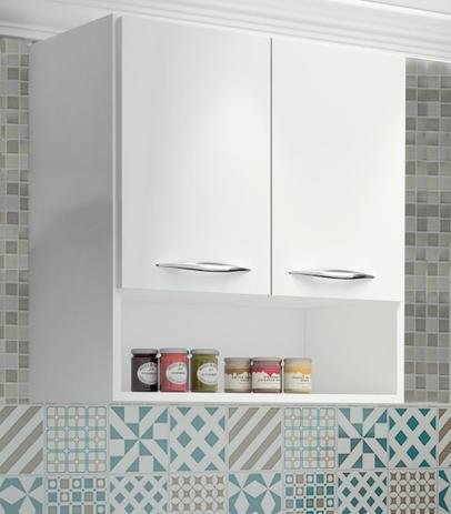Imagem de Armário Aéreo Para Cozinha ou Lavanderia com 2 Portas Branco
