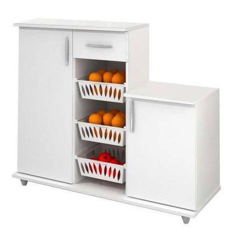 Imagem de Armário Cozinha 310 Branco com Fruteira Benetil