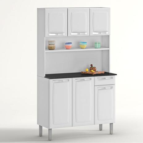 Armário De Aço Para Cozinha Rose Branco Itatiaia Móveis