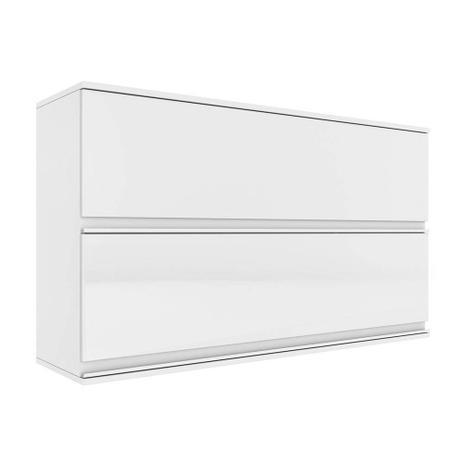 Imagem de Armario de Cozinha Aereo Itatiaia Belissima 2 Portas Plus Articuladas Branco/Branco Cetim IPH2-120