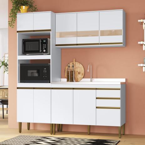 Imagem de Armário de Cozinha completo 3pc 1,85m Casablanca A3494 Casamia