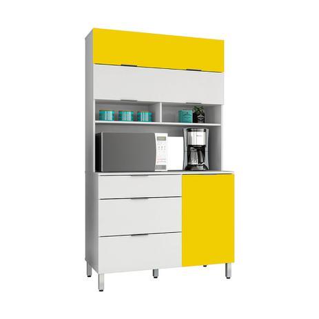 Imagem de Armario de cozinha spring branco ac/amarelo ac