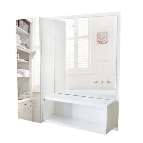 Armário Mdf Para Banheiro Espelho Na Porta Nicho Dom Móveis