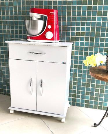 Imagem de Armário Microondas Multiuso Cozinha Bebedouro Branco