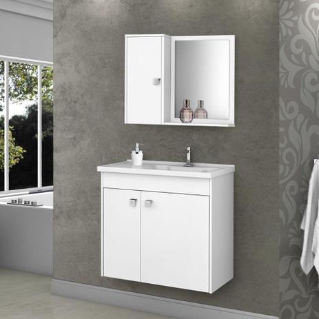 Imagem de Armário para Banheiro com 3 Portas Munique Branco - Bechara