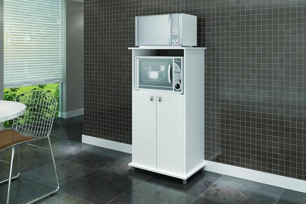 Imagem de Armário para Forno e Microondas com 2 Portas Branco