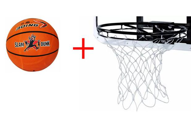 Aro Oficial De Basquete 45cm Com Bola NBA Rede Klopf - Basquete ... 4e897676fd884