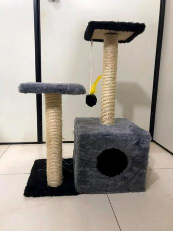 Imagem de Arranhador Toca Para Gato Cinza