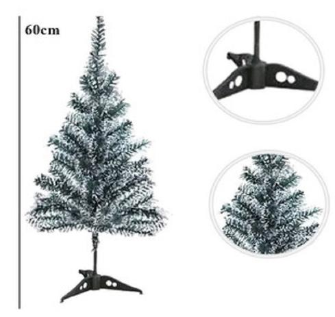Imagem de Arvore De Natal Pinheiro Nevada 50 Galhos E Base 60cm