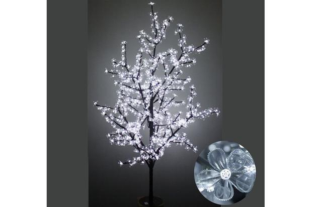 Imagem de Arvore natal cerejeira 2304 led branca 110v/3mts. centro oes
