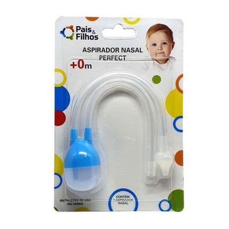 Imagem de Aspirador nasal sugador para nariz de bebe perfect em silicone