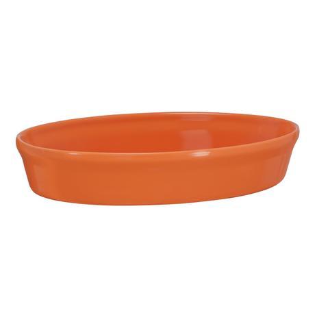 Imagem de Assadeira oval de cerâmica mondoceram gourmet 1600ml- laranja