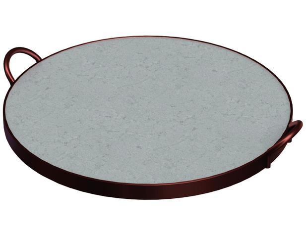 38e470ee6 Assadeira Tramontina Redonda de Pedra Sabão - Pizza 10399 028 ...