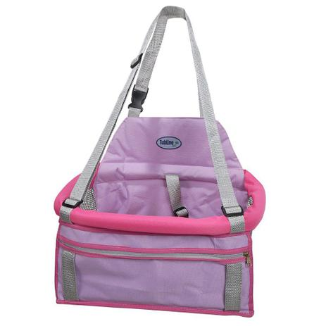 Imagem de Assento Transpet Para Transporte de Cães e Gatos Rosa - Tubline