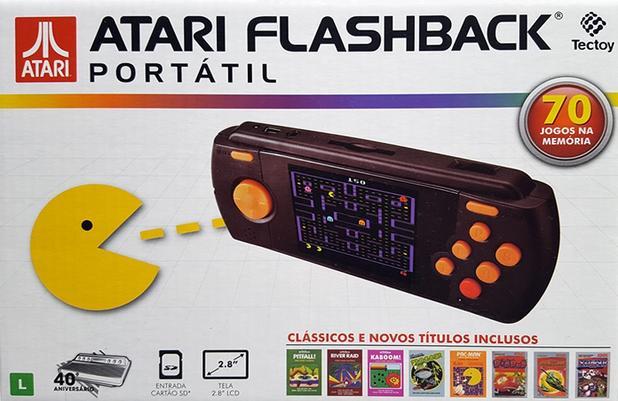 Imagem de Atari Flashback Portátil Com 70 Jogos Na Memória Tectoy