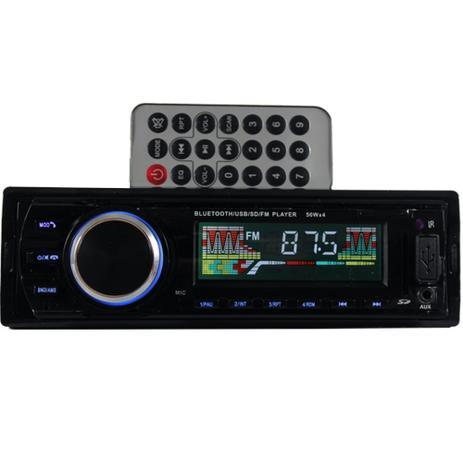 Imagem de Auto Radio Automotivo Bluetooth Controle Mp3 Player Som Carro