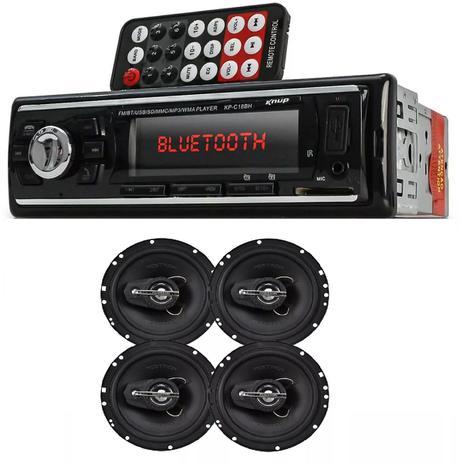 ef6154a1a3a Auto Radio Automotivo Bluetooth Mp3 Player Usb Sd e Kit 4 Alto Falante 6  240w Rms Positron - Knupp   positron