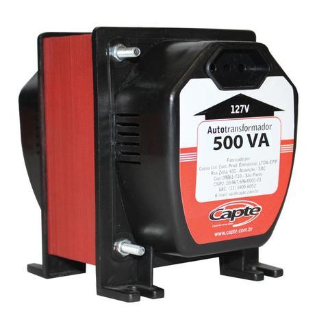 Imagem de Auto transformador 500VA/ 350W bivolt 110V/220V Tripolar Capte