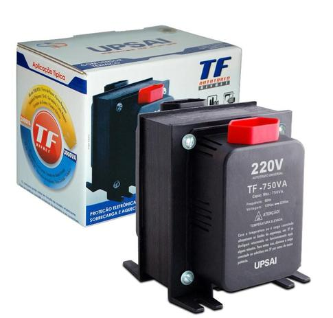 Imagem de Auto Transformador de Voltagem Conversor 750va Automático Bivolt 110v / 220v ou 220v / 110v Upsai 51000075