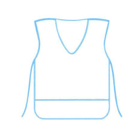 Imagem de Avental Plástico Escolar Borda Azul KIT