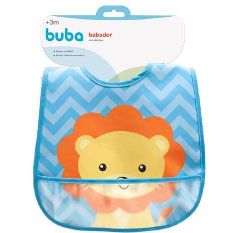 Imagem de Babador com bolso Animal Fun - Leão buba