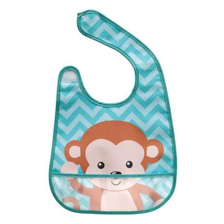 Imagem de Babador Impermeável com Bolso - Animal Fun - Macaco - Buba
