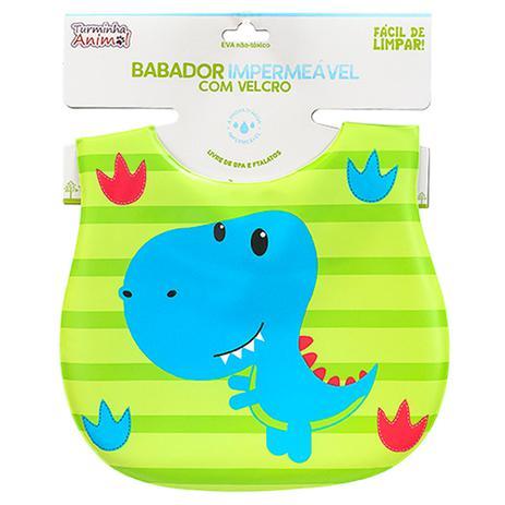 Imagem de Babador Para Bebês Impermeável Turminha Animal Dinossauro Unik