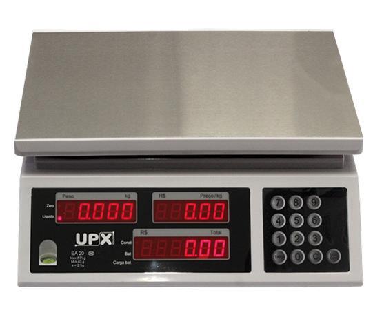 Imagem de Balança Comercial Digital Upx Solution Ea 20kg Inmetro + Saída + Bateria