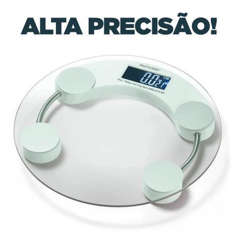 Imagem de Balança Corporal Digital Multilaser Eatsmart Branca Banheiro Academia HC039
