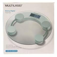 Imagem de Balança Corporal Digital Multilaser Eatsmart Branca