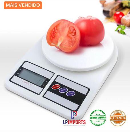 Imagem de Balanca Cozinha Digital academia fitness 10kg para pesar alimentos Dieta Nutrição nutricionista precisão comida