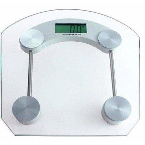 Imagem de Balança de Banheiro Digital Eletronica LCD Academia Vidro Temperado 180kg