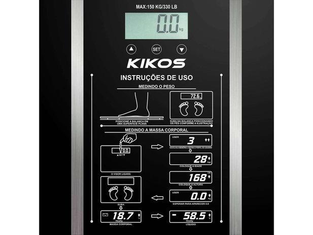 f9245481b Balança Digital até 150kg Vidro Temperado - Super Fina - Kikos B-ISON - B